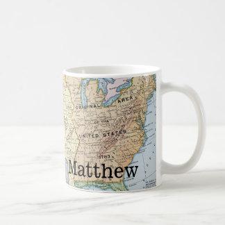 Map: US Expansion, 1905 Coffee Mug