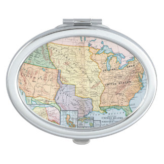 Map: US Expansion, 1905 Compact Mirror
