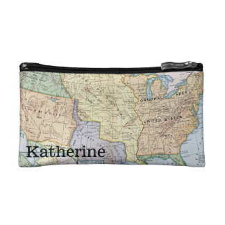 Map: US Expansion, 1905 Cosmetic Bag