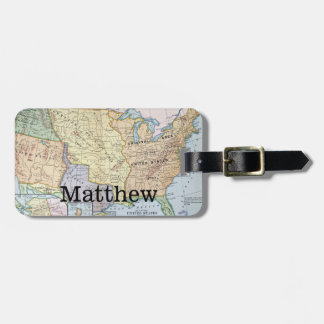Map: US Expansion, 1905 Luggage Tag