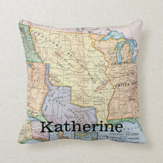 Map: US Expansion, 1905 Throw Pillow