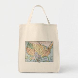 Map: US Expansion, 1905 Tote Bag