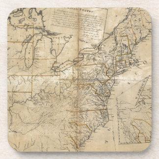 MAP: USA, 1783 DRINK COASTER