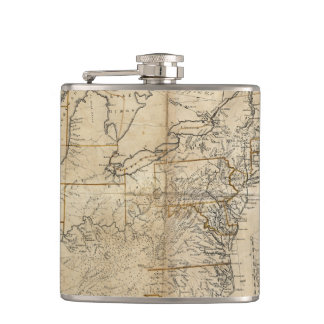 MAP: USA, 1783 FLASK