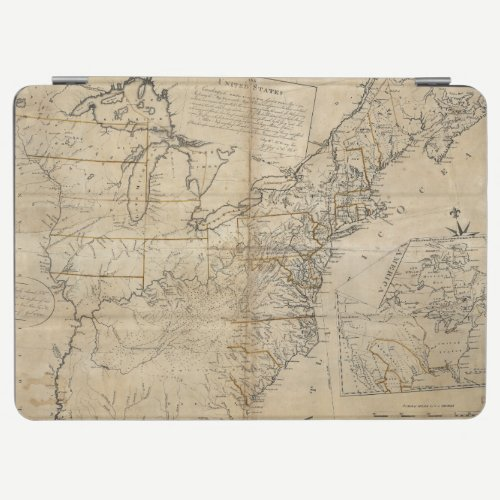 MAP: USA, 1783 iPad AIR COVER