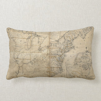 MAP: USA, 1783 LUMBAR PILLOW