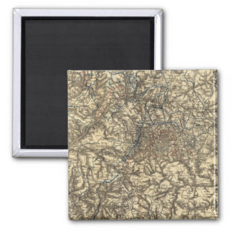 Map V illustrating the Military Operations 2 Inch Square Magnet