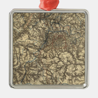 Map V illustrating the Military Operations Metal Ornament