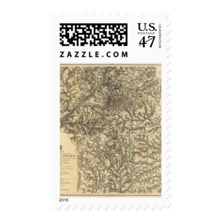 Map V illustrating the Military Operations Postage
