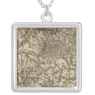Map V illustrating the Military Operations Square Pendant Necklace