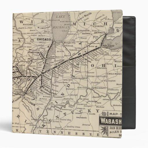 Map Wabash Railway 3 Ring Binder