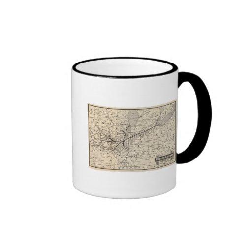 Map Wabash Railway Ringer Coffee Mug