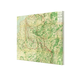 Map Western Front Canvas Print