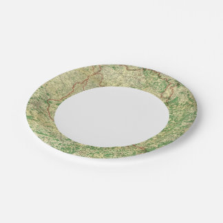 Map Western Front Paper Plate