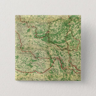 Map Western Front Pinback Button