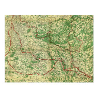 Map Western Front Postcard