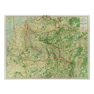 Map Western Front Print