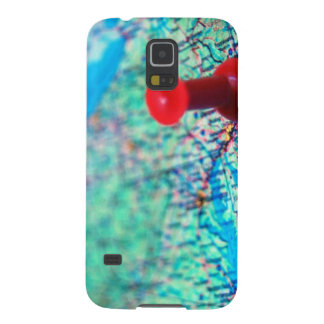 Map-with-pin-on-Washington MAP BLUE OCEAN LAND WAS Galaxy S5 Cover