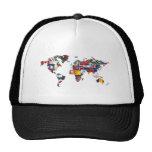 map world flag hats