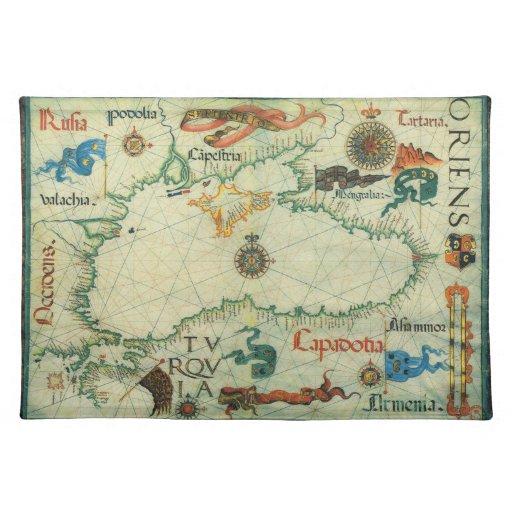 Mapa 1559 del Mar Negro Manteles Individuales