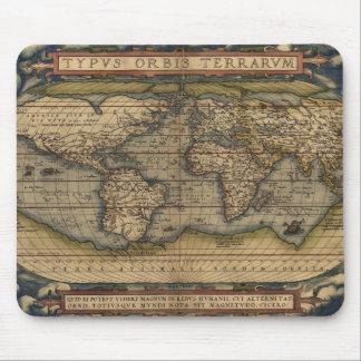 Mapa 1570 de Viejo Mundo de Abraham Ortelius del v Tapete De Ratón