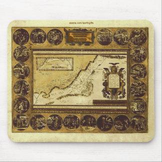 MAPA 1586 del VINTAGE HOLYLANDS Mousepad