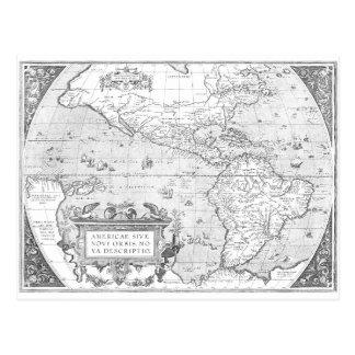 Mapa 1587 de América Postal