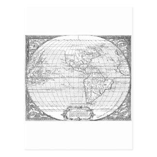 Mapa 1587 de América Tarjetas Postales