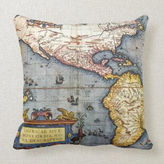Mapa 1587 de las Américas Cojin