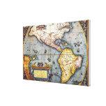 Mapa 1587 de las Américas Impresiones En Lona