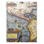 Mapa 1587 de las Américas Libro De Apuntes