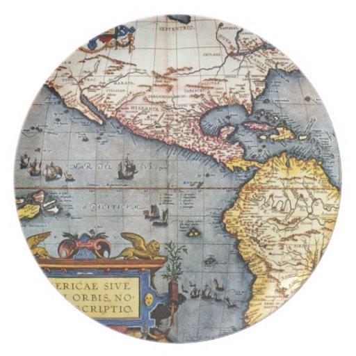 Mapa 1587 de las Américas Plato
