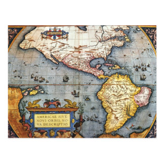 Mapa 1587 de las Américas Postal