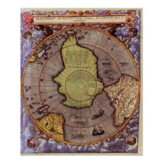 Mapa 1593 de S. Hemisphere Impresiones