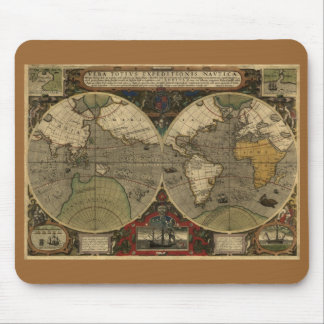 Mapa 1595 de Hondius Mousepad Alfombrilla De Ratón