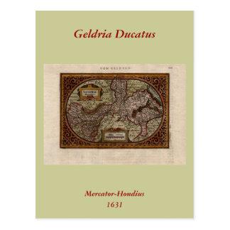 Mapa 1631: Geldria Ducatus de Mercator-Hondius Postales