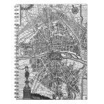 Mapa 1643 de París Cuadernos