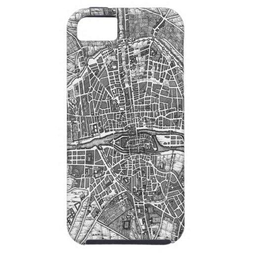 Mapa 1643 de París iPhone 5 Coberturas