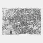 Mapa 1643 de París Toallas De Cocina