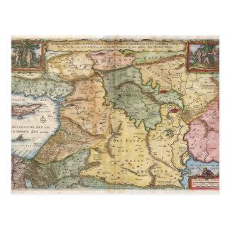 Mapa 1657 de Visscher de la Tierra Santa Postales