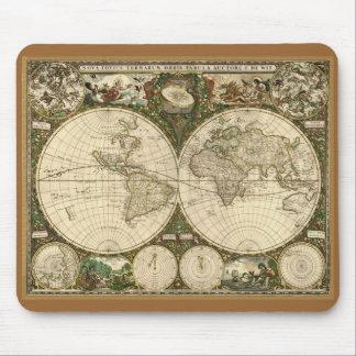 Mapa 1660 de Viejo Mundo de Frederick de Wit Alfombrilla De Ratón