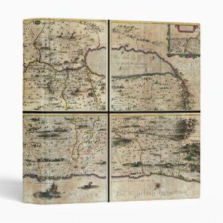 """Mapa 1662 de Israel Palestina de la Tierra Santa Carpeta 1"""""""