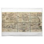 Mapa 1662 de Israel Palestina de la Tierra Santa d Mantel