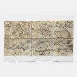 Mapa 1662 de Israel Palestina de la Tierra Santa d Toallas De Mano