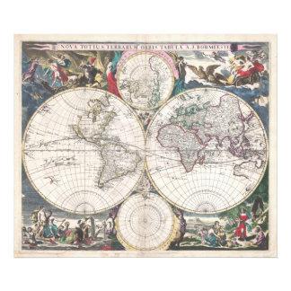 Mapa 1685 de Bormeester del mundo Arte Con Fotos