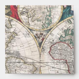 Mapa 1685 de Bormeester del mundo