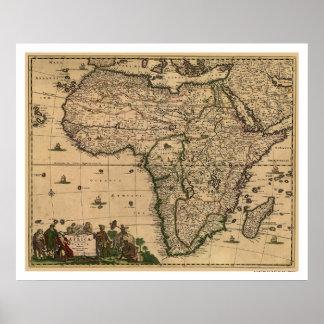 Mapa 1688 de África Poster