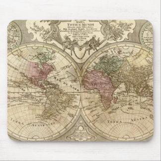Mapa 1690 de Viejo Mundo de Guillaume Tapetes De Raton