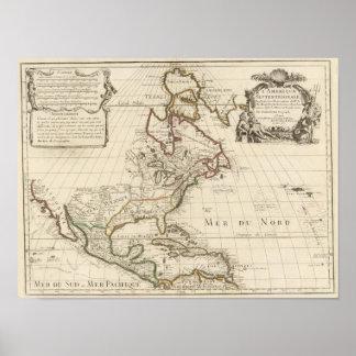 Mapa 1700 de Norteamérica Impresiones