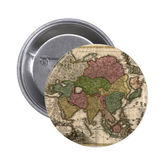mapa 1700's de Asia Pins